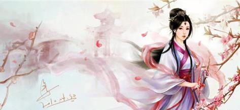 红衣妖娆美人古装手绘_红衣古装美人